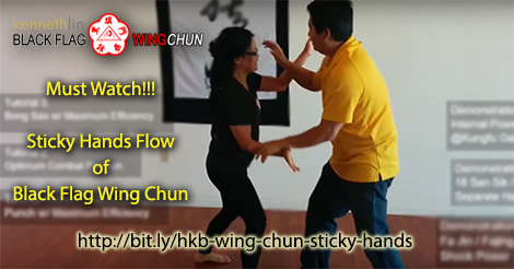 black flag wing chun sticky hands